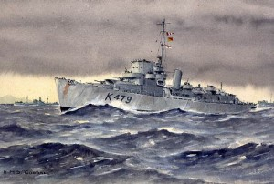 Painting of HMS Goodall K 479